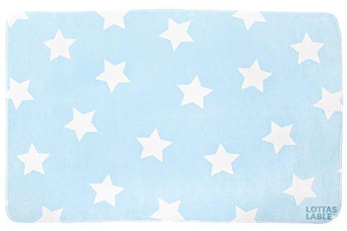 Lottas Lable 65003-4 Kinderzimmer Teppich Softie in Hellblau mit Sternen 180x130 cm