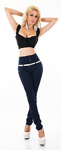 Bleu Triple Noir bleu XXX Skinny Jeans Femme x18wXZqO