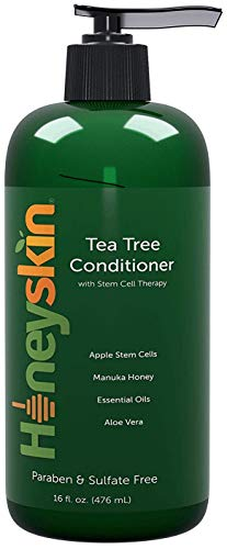 (Organic Tea Tree Oil Conditioner - Hydrating Conditioner for Dandruff Hair Loss Itchy and Dry Damaged Scalp Treatment - Paraben and Sulfate Free - with Manuka Honey Coconut Oil and Stem Cells - 16oz)