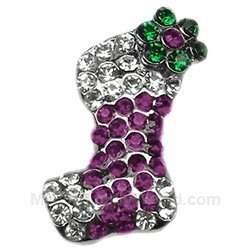 Mirage Pet Products Pink and Purple Stocking Charm for Pets, Purple