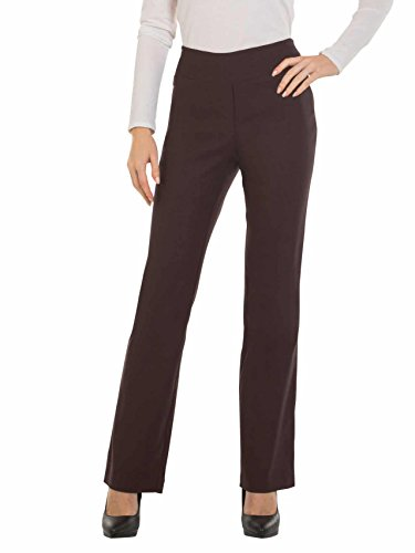 Red Hanger Bootcut Dress Pants for Women -Stretch Comfy Work Pull on Womens Pant Brown-XXL