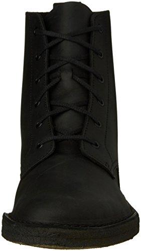 Clarks Hombres desierto Malí cera piel negro, cuero, (Black Beeswax Leather)