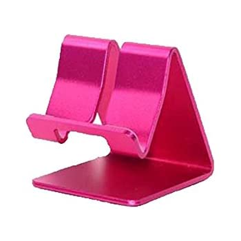 ADS Amtopsell Aluminum Metal Stand Holder Stander for iPad iPhone Mobile Phone Smart Tab Y365 (Hot Pink)