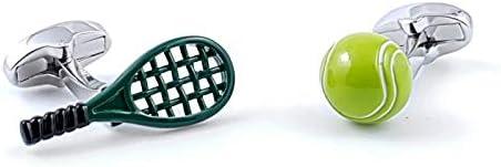 Boutons de Manchette Raquette et Balle de Tennis