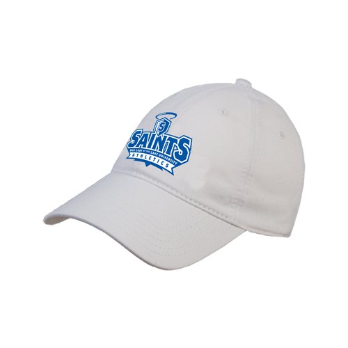 OLLU White Twill Unstructured Low Profile Hat 'Our Lady of the Lake University Athletics - Offical Logo' by CollegeFanGear