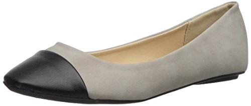 Qupid Women's BEE-53 Ballet Flat Light Grey 7 M ()