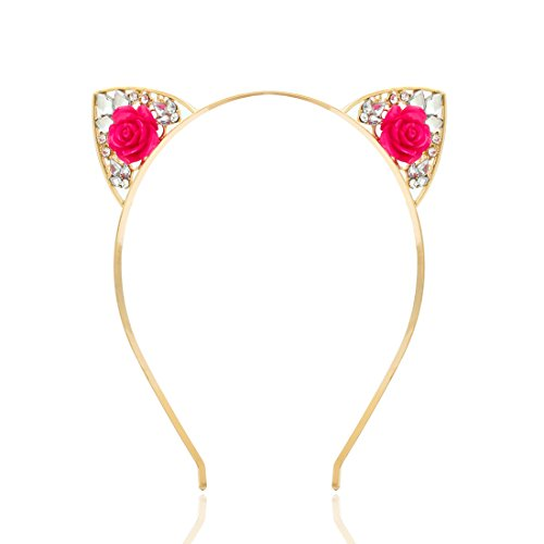 VK Accessories Crystal Cat Ear Headband for Women Girls