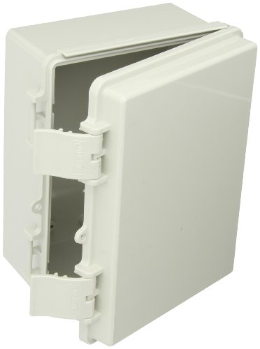 BUD Industries NBF-32112 Plastic Indoor NEMA Economy Box with Solid Door, 7-55/64'' Length x 5-57/64'' Width x 3-59/64'' Height, Light Gray Finish by BUD Industries