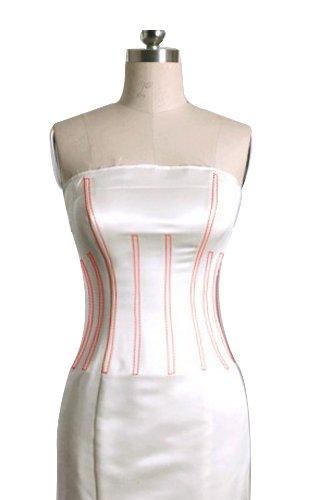 GEORGE BRIDE Removable Lace Strap Chapel Train Wedding Dress Size 12 White