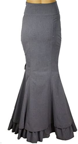 Rainy Night in London Black or Gray Gothic Steampunk Victorian Skirt SM-28