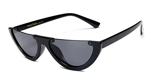 Clout Goggles Cat Eye Sunglasses Half Frame Bold Retro Mod New Candy - Frame Cat Eye Half Sunglasses
