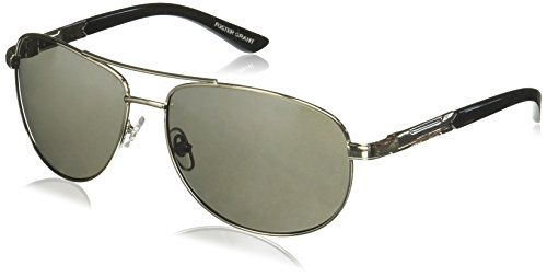 Price comparison product image Foster Grant Sunday Drive Aviator Sunglasses, Gunmetal, 158 mm