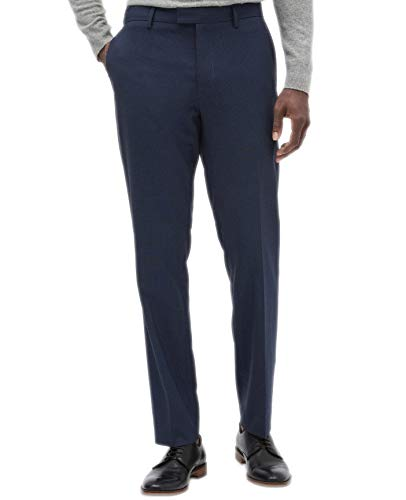 Banana Republic Men's Slim-Fit Wrinkle Resistant Blue Gingham Pants -