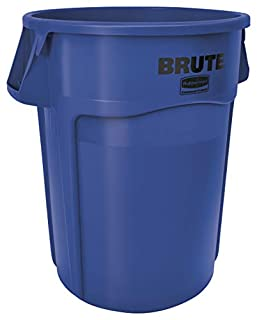 Rubbermaid Commercial Brute Plastic 55-Gallon Trash Can without Lid, Round, 33-Inch Height, Blue (1779732) (B005KDB5ZQ) | Amazon price tracker / tracking, Amazon price history charts, Amazon price watches, Amazon price drop alerts