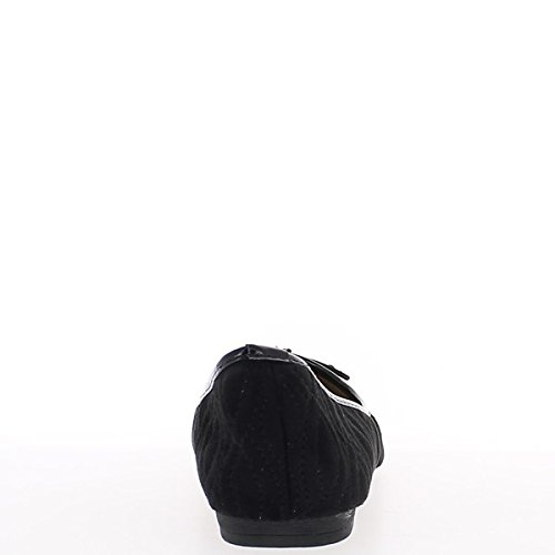 Tamaño grande de bailarinas con nodo final barnizado negro