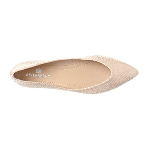 Slip Ella Closed On Ballet Flat Shoe Pointed Snake Riverberry Women's Beige Toe Basic 8qt5Twwxp