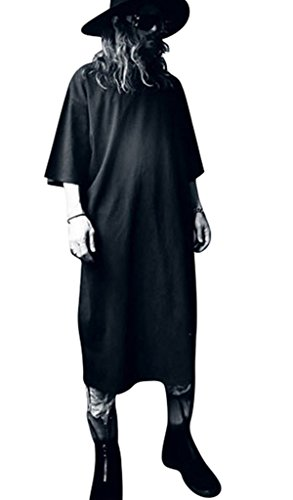 MOGU Mens Longline T Shirt Hip-Hop Street Tee Shirt Kaftan Men Thobe Arabic Muslim Dress US Size