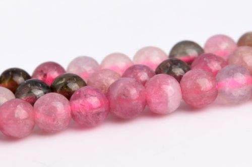 (3mm Genuine Natural Pink Tourmaline Grade Round Gemstone Loose Beads 15.5'' Crafting Key Chain Bracelet Necklace Jewelry Accessories)