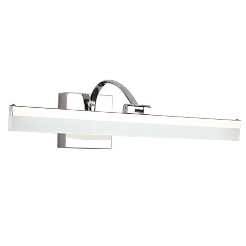 SAILUN Bathroom Vanity Light Fixture 20 Inch 12W Vanity Mirror Light Wall Light Stainless Steel and Acrylic for Bathroom/Dressing Room 6000K 1580LM - Cold White Bracket Contemporary Bathroom Light