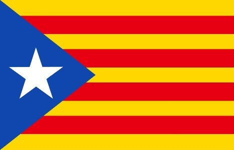 Catalan Flag (Catalonia Independence 5ft x 3ft Flag - Estelada Blava - Seasonal Superstore)