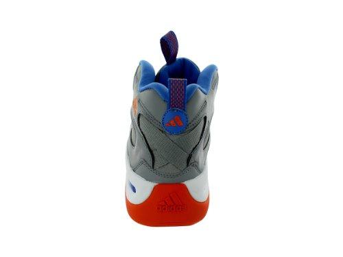 Adidas Skøre 8 Basketball Sko - Aluminium / Blå / Orange (herre) FUszXEEGI