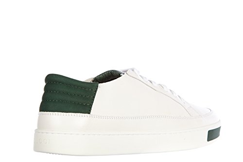 233e58d09 Gucci Men's Shoes Leather Trainers Sneakers miro Soft Ayers White US Size  8.5 368421 AYOU0 90677