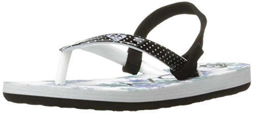 Roxy Girls' TW Pebbles Flip-Flop, Black Navy, 7