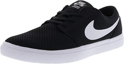 Nike Men's Sb Portmore Ii Ultralight Black/White Ankle-High Skateboarding Shoe - 9M