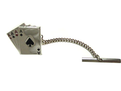 Four Aces Gambling Poker Tie Tack (Ace Tie)