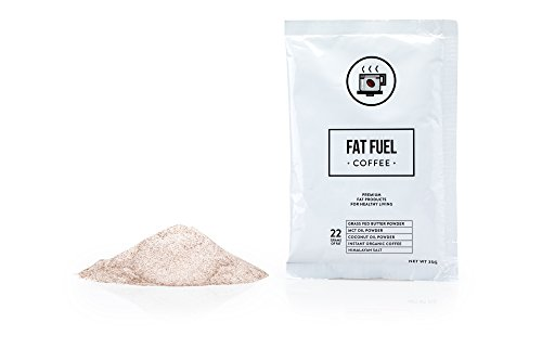 Fat Fuel Coffee the Only Instant Keto Diet Coffee with Grass Fed Butter, MCT Oil & Coconut Oil Powders, for High Fat/Low Carb Food Weight Loss, 15 Servings
