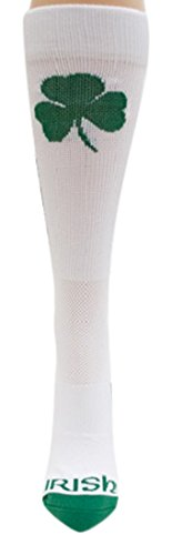 (Donegal Bay NCAA Notre Dame Fighting Irish Sport Socks, White, One Size)