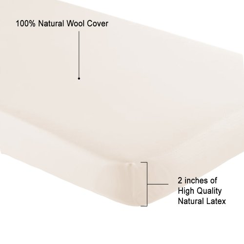 OrganicTextiles Natural Latex Crib and Toddler Mattress Topper Pad 2