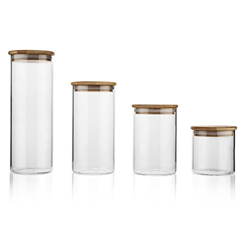 Glass Food Storage Containers with Lids by Sweetzer