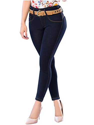 LT.ROSE Draxy 1378 Womens Skinny Butt Lifting Colombian Jeans | Jeans Colombianos Indigo 7 (Best Jeans To Lift Buttocks)