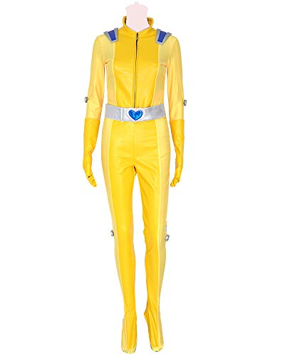 Miccostumes Women's Alex Cosplay Costume Outfit with Belt Yellow (L) -