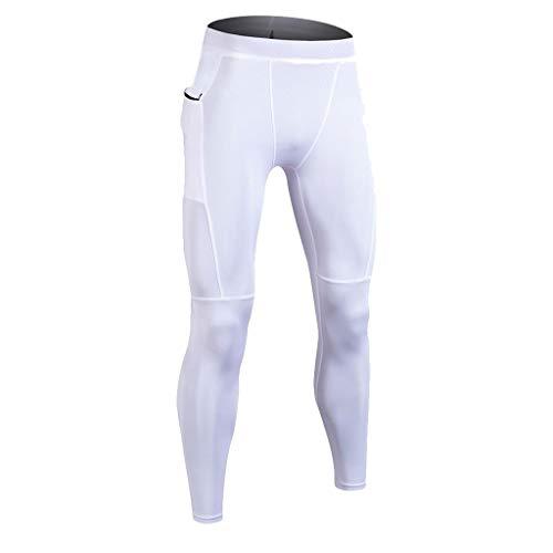 D'entraînement Blanc Serré Musculation Pantalon Séchage Pantalons À Sport Longs De 6aT1x1z