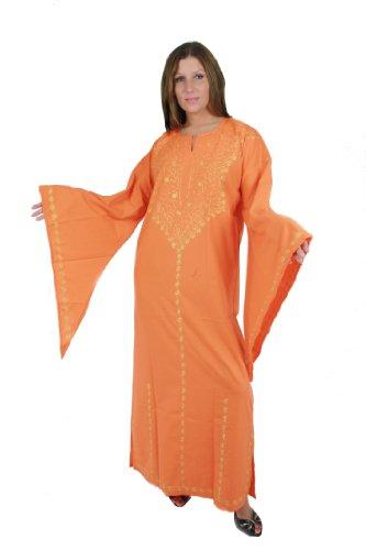 In Diversi Orange Settanta Anni Vestito nbsp;casa nbsp;– Colori Romantico Nel Kaftan gold Look xqwp8TgC