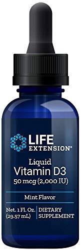 Life Extension Liquid Vitamin D3 2000 Iu, Mint, 1 Fluid Ounce (02232)