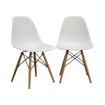 Baxton Studio LAC Plastic Side Chair Set of 2  sc 1 st  Amazon.com : baxton chair - Cheerinfomania.Com