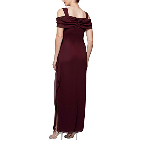 Cold Wine Dress Shoulder Evenings Alex Women's Petite Sizes Long Regular and gnA7ntf