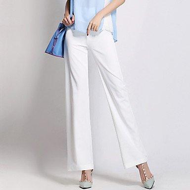 TT&KUZI Pantaloni da Donna A Zampa Moda Città Poliestere Media Elasticità, l