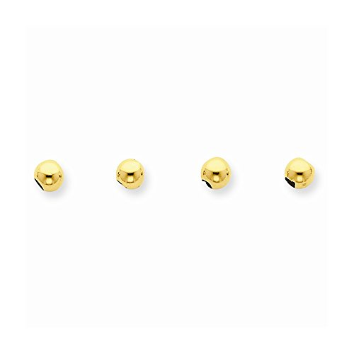 14k Set of 4, 4mm Spacer Beads, Best Quality Free Gift Box