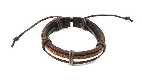 Brown Leather LGBT Gay Bear Pride Bracelet