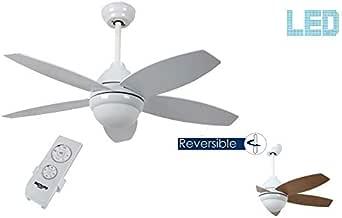 Bastilipo 7791-Bali Blanco LED Bali Ventilador de Techo Mando a Distancia y Palas Reversibles: Amazon.es: Iluminación