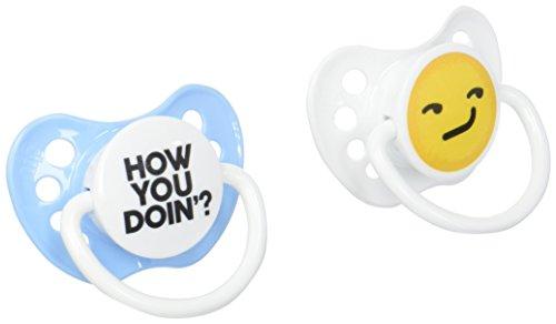 Pacifiers - Ulubulu - How you Doin' Emoji 0-6M  New Baby Acc