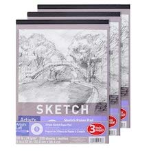 50 lb. Sketch Paper Pad Set by Artists Loft Pad of 110-Sheets Pack of 3 Pads