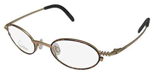 Adidas A937 Unisex/Boys/Girls/Kids Oval Full-rim Eyeglasses/Glasses (40-18-125, Havana / Matte (Adidas Gold Lens)