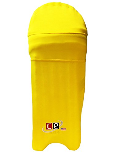 Colored Cricket Batting Pads Covers - Leg guards Clads By Cricket Equipment USA (Gold Yellow, Extra-Large)