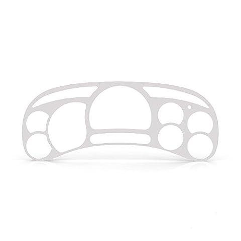 White Gloss Gauge Cluster Dash Bezel Trim fits: 2003-2006 Chevy Silverado 2500 HD - Ferreus Industries - (Custom Instrument Cluster)
