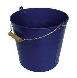 Organize It All Round Metal Bucket, Blue